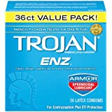 Trojan Enz Condom Enz Spermicidal, 36 Count