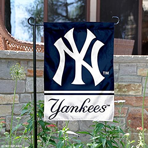 New York Yankees Double Sided Garden Flag - Double Sided Pole