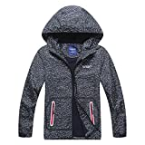 C&X Boys Rain Jacket – Lightweight Waterproof Jacket for Boys with Hood,Best for Rain School Day,Hiking and Camping (0802, 12)