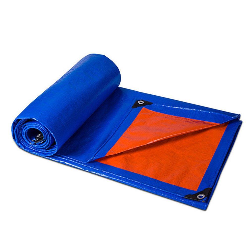 A 4 x 6m WQQTT BÂcheTissu de Pluie BÂche imperméable Bleu Lourd imperméable à l'eau de bÂche de Camping imperméable BÂcheTissu de Pluie (Couleur   A, Taille   3 x 4m)