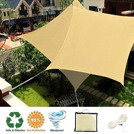 WISKEO Toldo Vela Protección Solar Pergola Kit Camping - Beige ...