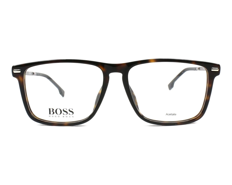 a5b5521a248 Amazon.com  Hugo Boss frame (BOSS-0931 086) Acetate - Metal Dark Havana -  Silver  Clothing