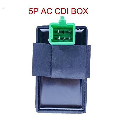 5 PRONG CDI BOX UNIT 50cc 70cc 90cc 110cc 125cc GO-KART ATV DIRT PIT POCKET BIKE
