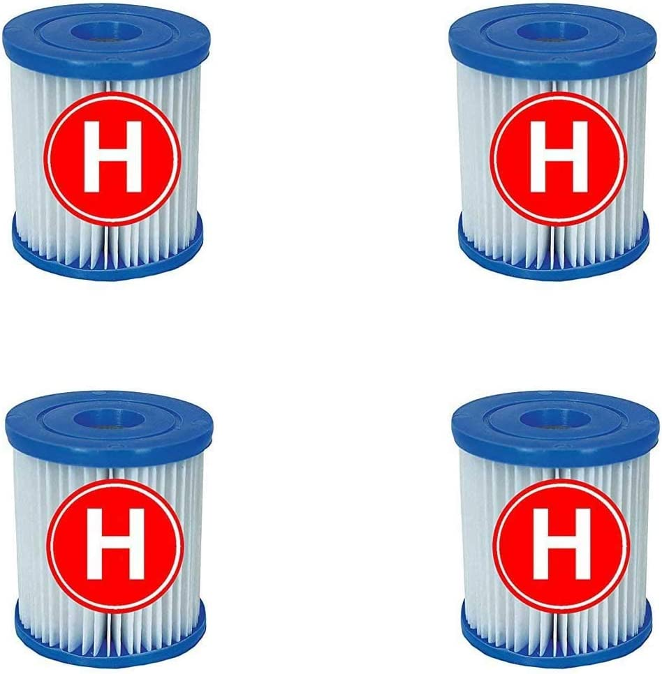 Intex 4 Cartuchos de Filtro para Piscina para Filtro de Tipo H ...