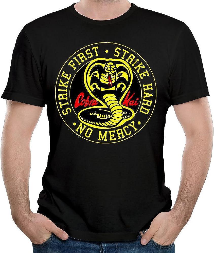 Cobra Kai Karate Dojo Mens Custom T-Shirt Fashion Short Sleeve Shirt