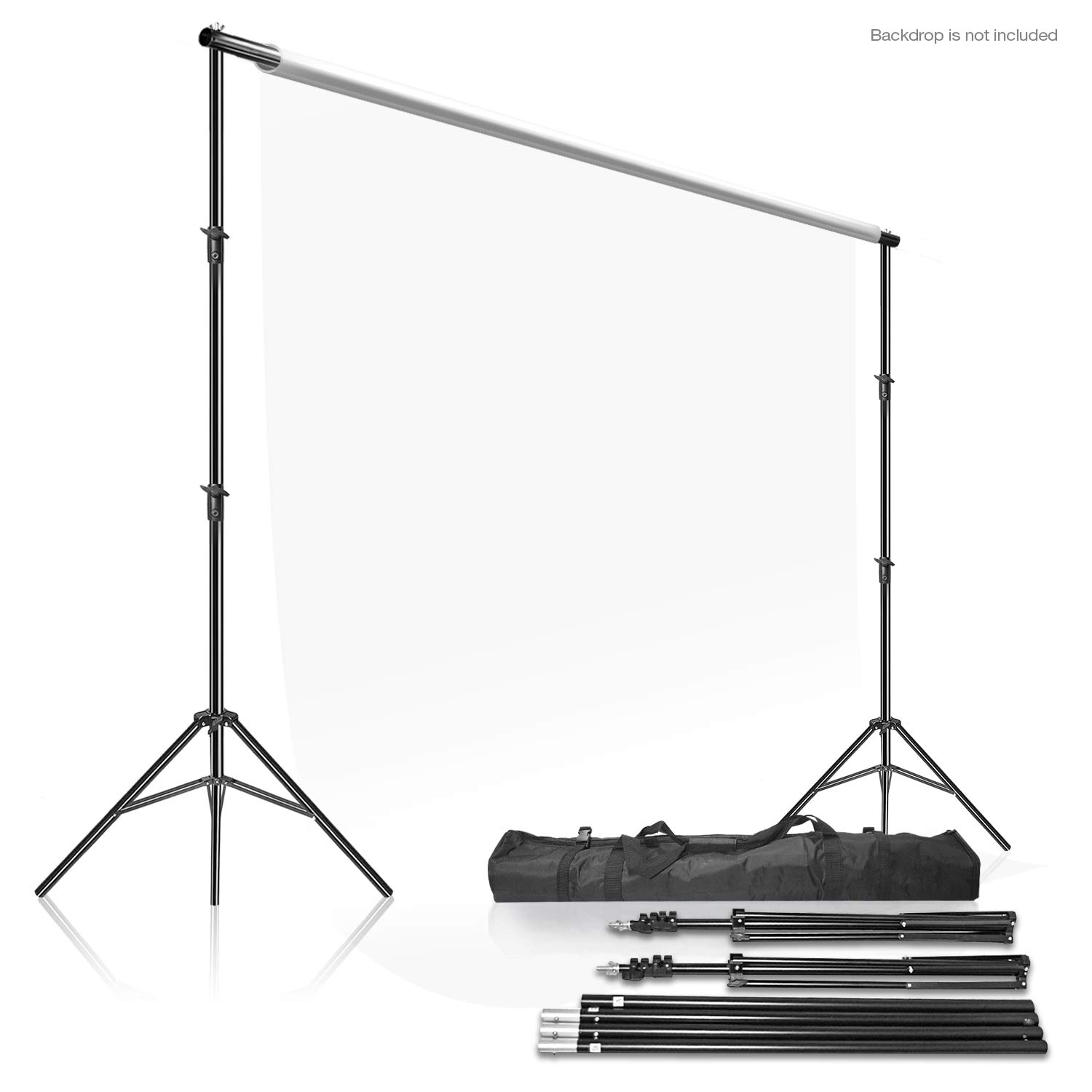 LimoStudio Photo Video Studio 10Ft Adjustable Muslin Background Backdrop Support System Stand, AGG2862 by LS LIMO STUDIO LIMOSTUDIO
