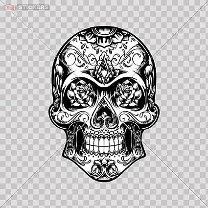 amazon com decal sticker skull design logo car window wall art