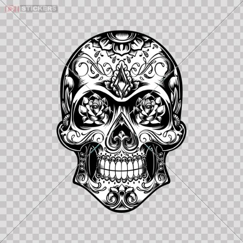 Decal Sticker Skull Design Logo Car Window Wall Art Decor Do