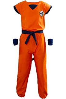 Amazon.com: Dragon Ball Children Costume, Son Gokus Training ...