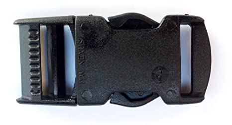 """2/"""" Plastic Side Release Buckle Black for Hiking Camping Bags 50mm"""