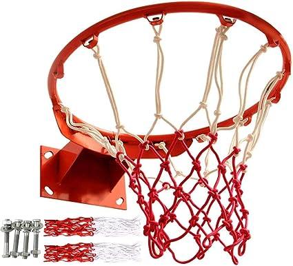 Basketball Hoop Ring Net Wall Mounted Outdoor Hanging Indoor//Outdoor Gift Set