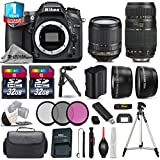 Holiday Saving Bundle for D7100 DSLR Camera + Tamron 70-300mm Di LD Lens + 18-105mm VR Lens + 2 Of 32GB Card + 1yr Extended Warranty + Case + 0.43X Wide Angle Lens - International Version