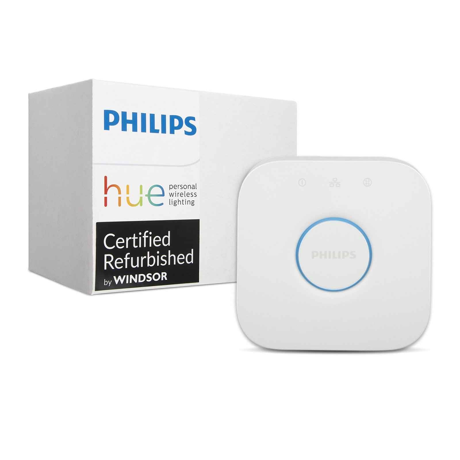 Philips Hue Smart Bridge - 2nd Generation, Latest Model - Works with Alexa, Apple HomeKit and Google Assistant (Certified Refurbished) by Philips