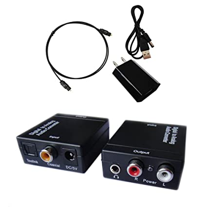 Easyday Digital to Analog Audio Converter with Digital Optical Toslink and  S pdif Coaxial Inputs 6900787689