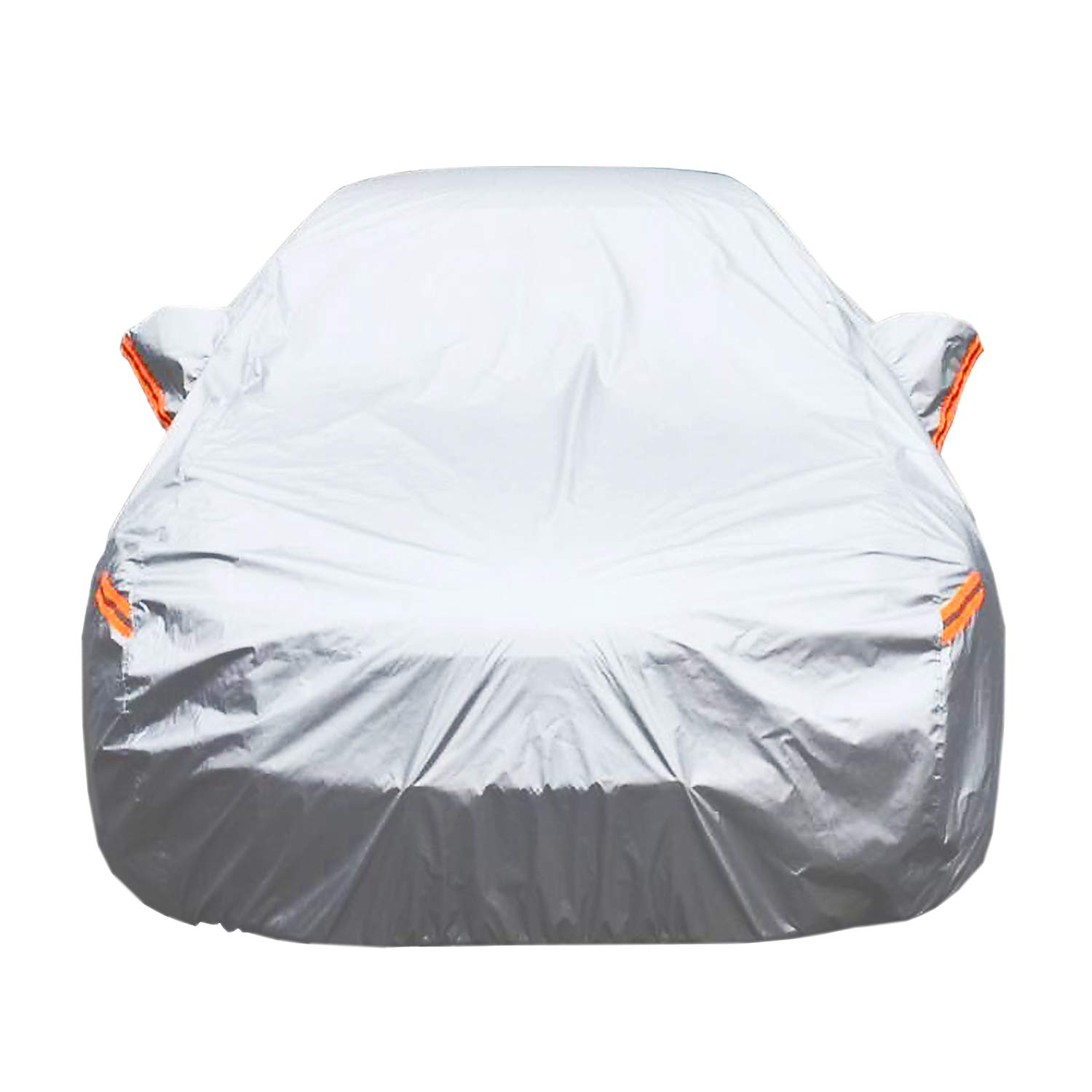 Universal Car Cover for Sedan, Waterproof, Dustproof, Snowproof All Weather, Effectively Reduce Temperature Universal UV Waterproof Full Car Cover Outdoor Auto Sun Protection Covers (191'Lx76'Wx56'H) CARBABA