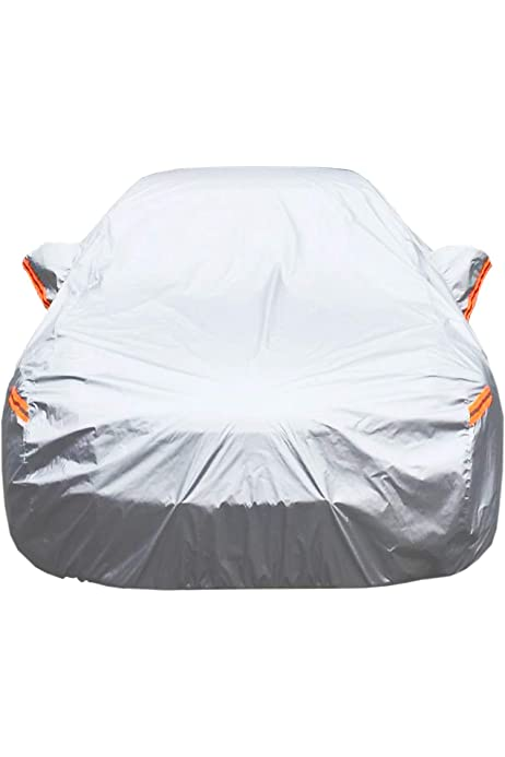 199/'/'L x 75/'/'W x 60/'/'H ELUTO Sedan Car Cover Waterproof All Weather Outdoor Car Covers Inside Cotton UV Protection Windproof Black Full Car Cover for Sedan Fits up to 199/'/'