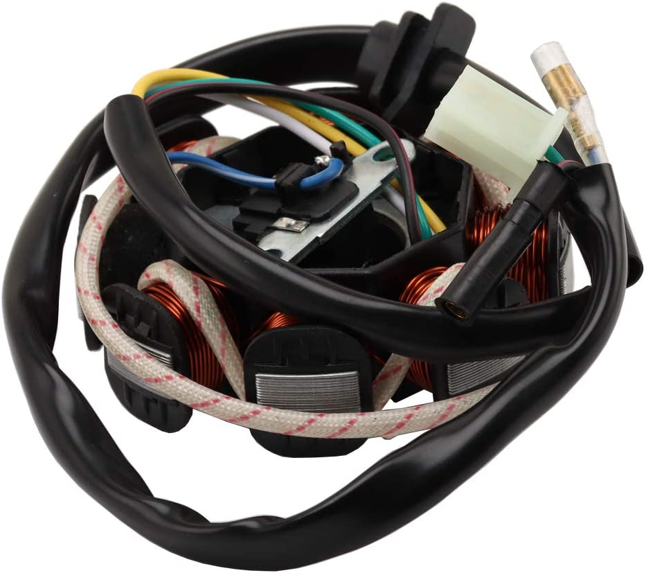 8 post Stator Magneto Coil For Go kart 150cc Hammerhead Carter Brothers American SportsWorks and most other Chinese brands M150-1051200-8