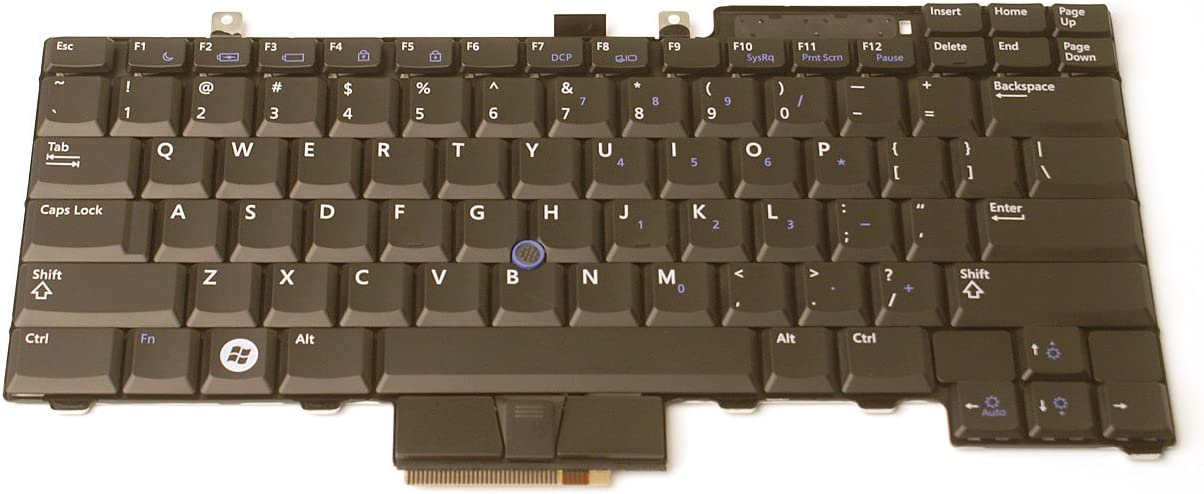 Genuine Dell UK717 for Latitude E6400 E6410 E5500 E5510 E6500 E6510 E5410 and Precision M2400 M4400US Notebook/Laptop 83-Key Keyboard Series Compatible Part Numbers: UK717, 0UK717, Model A007 KYBD, 83, US, ENG, BLK, EMD