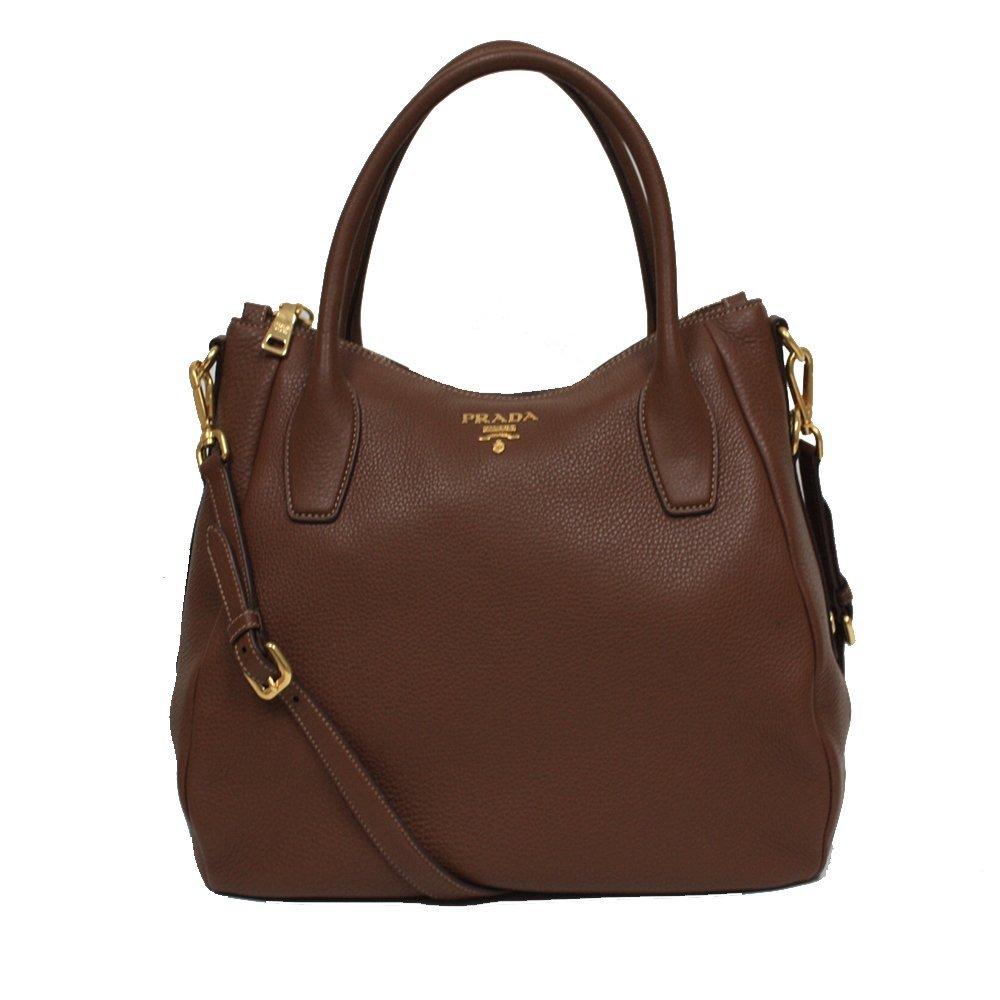 Prada Daino Sacca 2 Manici Leather Hobo Shoulder Bag Handbag Purse BR4992