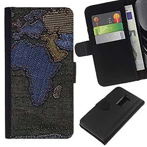 LG G2 D800 D802 D802TA D803 VS980 LS980 , la tarjeta de Crédito Slots PU Funda de cuero Monedero caso cubierta de piel ( Africa Continents Map Europe Arabian Peninsula)