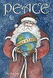 Toland Home Garden Peace on Earth 28 x 40 Inch Decorative Christmas Holiday Santa Globe House Flag