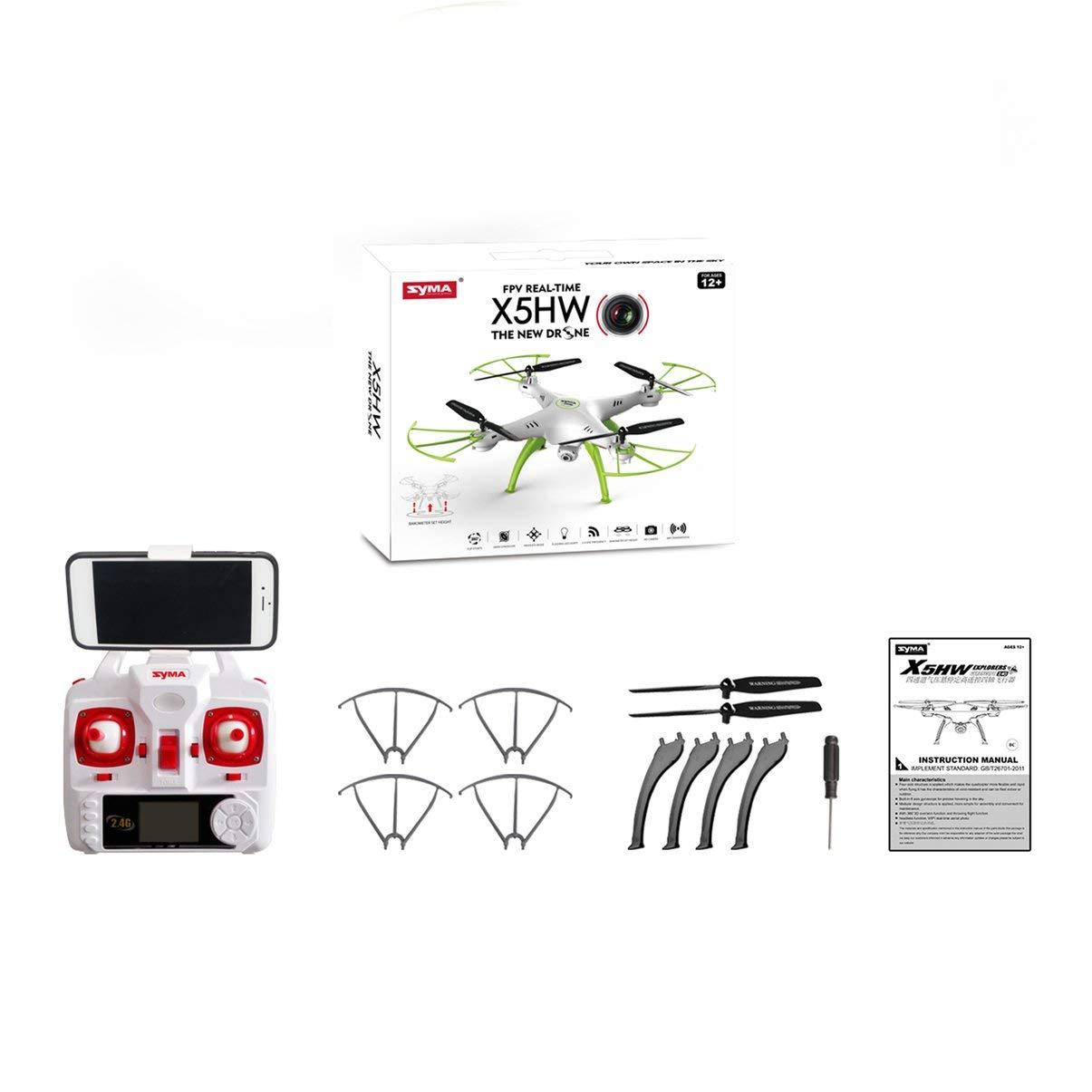 JullyeleDEgant Syma X5HW RC Drohne 4CH mit WiFi Kamera Live Video Höhe Halten Headless Modus 3D Flip RTF Fernbedienung Spielzeug für FPV