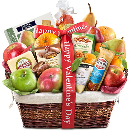 Gourmet Abundance Fruit Basket Gift (Happy Valentines Day)