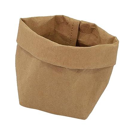 Amazon.com : Washable Succulents Pots Kraft Paper Bag Plant ...