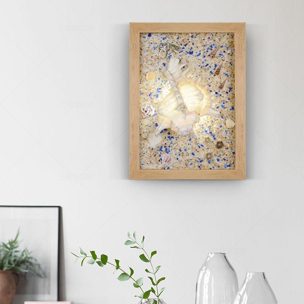 Unbekannt Met Love Kunst Shell Wandleuchte Led Wandleuchte Kreative Persönlichkeit Studie Schlafzimmer Kinderzimmer Wohnzimmer Mittelmeer Lichter (Farbe : A)