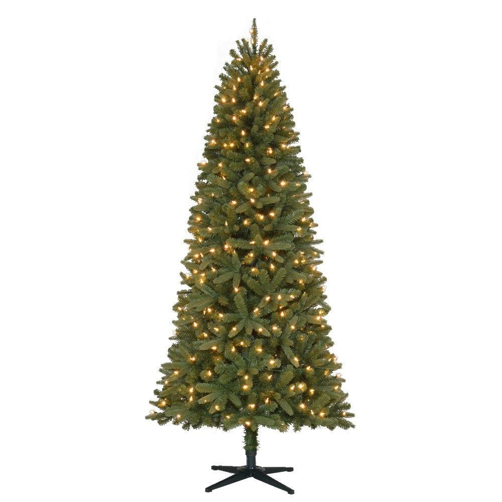 Vickerman 7' Silver Artificial Christmas Tree with 680 Warm White LED Lights