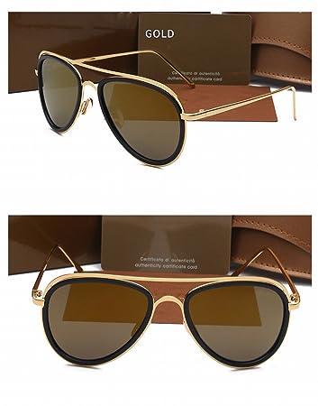 Männer Sonnenbrille Mode Frosch Outdoor Reise Polarisierte Sonnenbrille Goldrahmen Luxusgold NFWdYcK