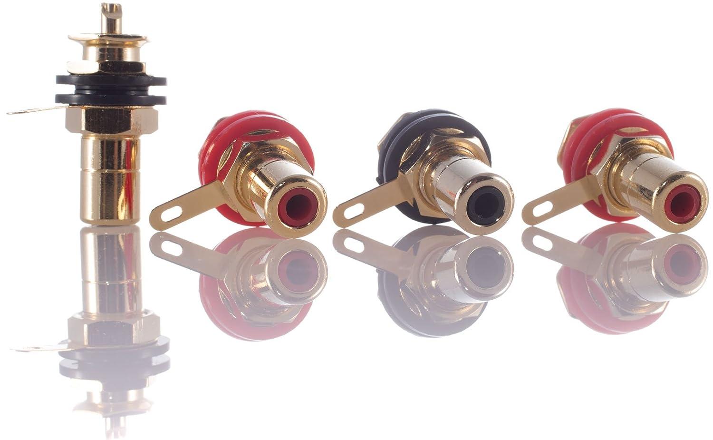HIFI Lab presa RCA Incasso 24/K placcato oro rca audio High End RCA femmina connettore Plug connettore RCA Jack Premium 4/X