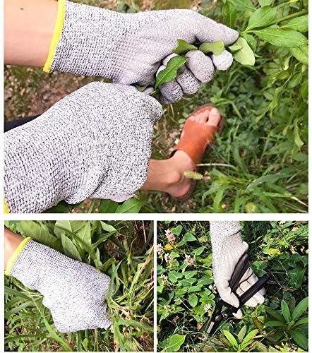 ガーデン手袋、男性の女性の労働保護手袋屋外作業保護厚い通気性防水ノンスリップ、1ペア (Size : L)