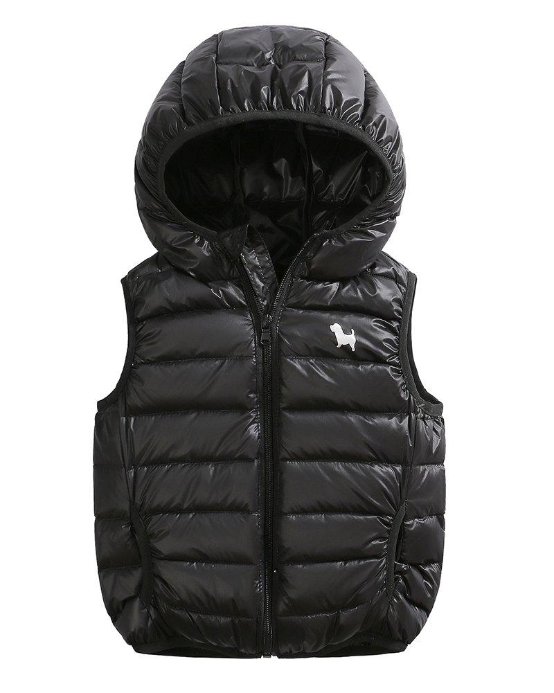 Bambini Ragazze Ragazzi Inverno Cappotto Con Cappuccio Leggero Gilet Giacche 3-10 Anni