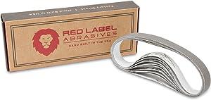 Red Label Abrasives 1/2 X 12 Inch Ultra Fine P5000 Grit Knife Sharpener Sanding Belts, 10 Pack (Compatible with Work Sharp Knife & Tool Sharpener)