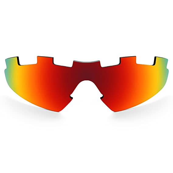c9f463aa433 Revant Vented Polarized Replacement Lens for Oakley M2 (Aero) Fire Red  MirrorShield®