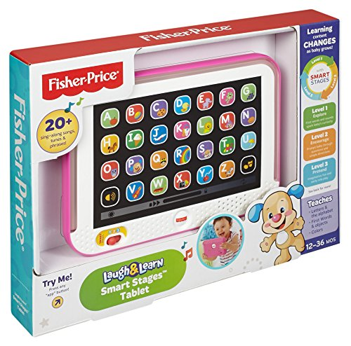 61VmWSGd7LL - Fisher-Price Laugh & Learn Smart Stages Tablet, Pink