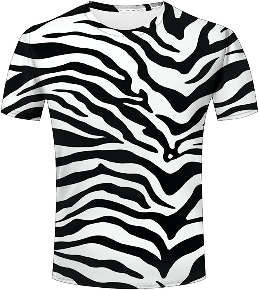 Amazon Com Liangjinyan 3d Men T Shirt Texture Zebra Stripes Printed Tops Tees Graphics Pattern Clothing