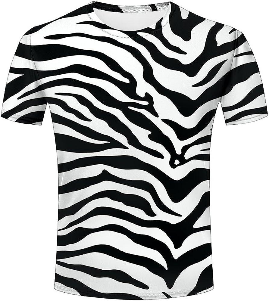 Zebra Skin Bikini Ripped Effect Mens T-Shirt