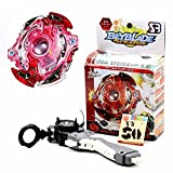 BestKept Baby Toy Kids Toy - Metal Master Beyblade - Multi-colored Fusion Top Rapidity Fight Metal Master Beyblade 4D Launcher Grip Set Toy - Creative Educational Gift for Kids Boys Girls
