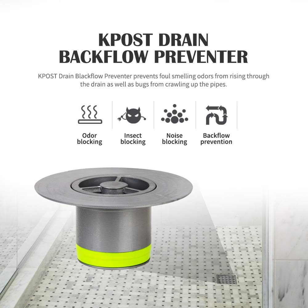 Resist Odor KPOST Drain Backflow Preventer One Way Seal Tight Drain for Sink and Tub