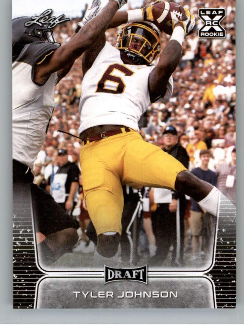 Amazon Com 2020 Leaf Draft 58 Tyler Johnson Rc Minnesota Golden Gophers Tampa Bay Buccaneers Rc Nfl Rookie Football Trading Card Sports Collectibles