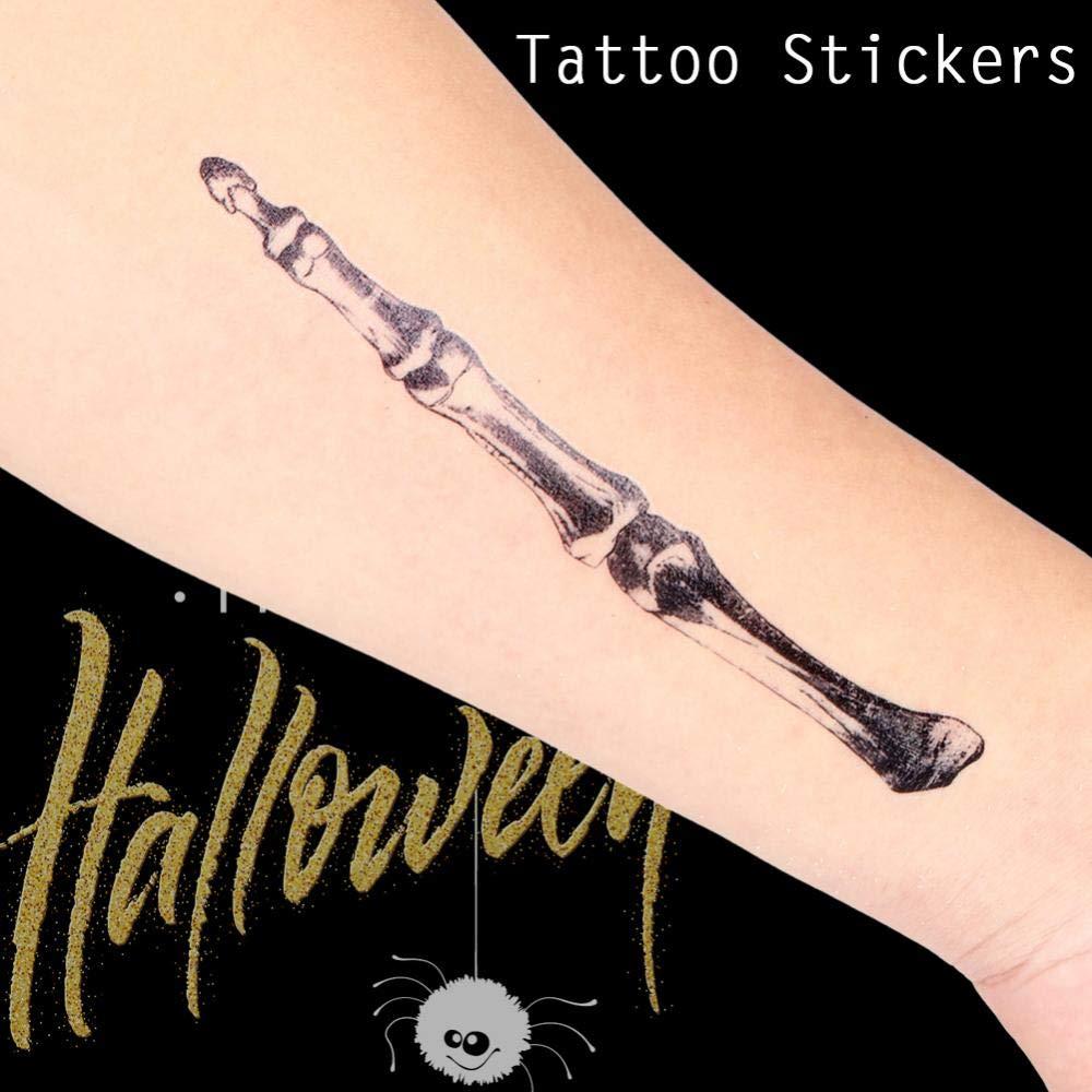 Halloween Temporal Tatuaje Sangre Herida Scar 3D araña para Trick ...
