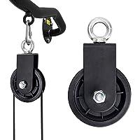 TOBWOLF 55mm/88mm/90mm Silent Fitness Katrol Wiel voor Home Gym, 360 graden rotatie Traction Wheel, Hefdragende katrol…