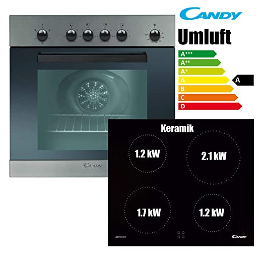Candy Horno Acero Inoxidable Set Heiss Aire FCO 405/6 x ...