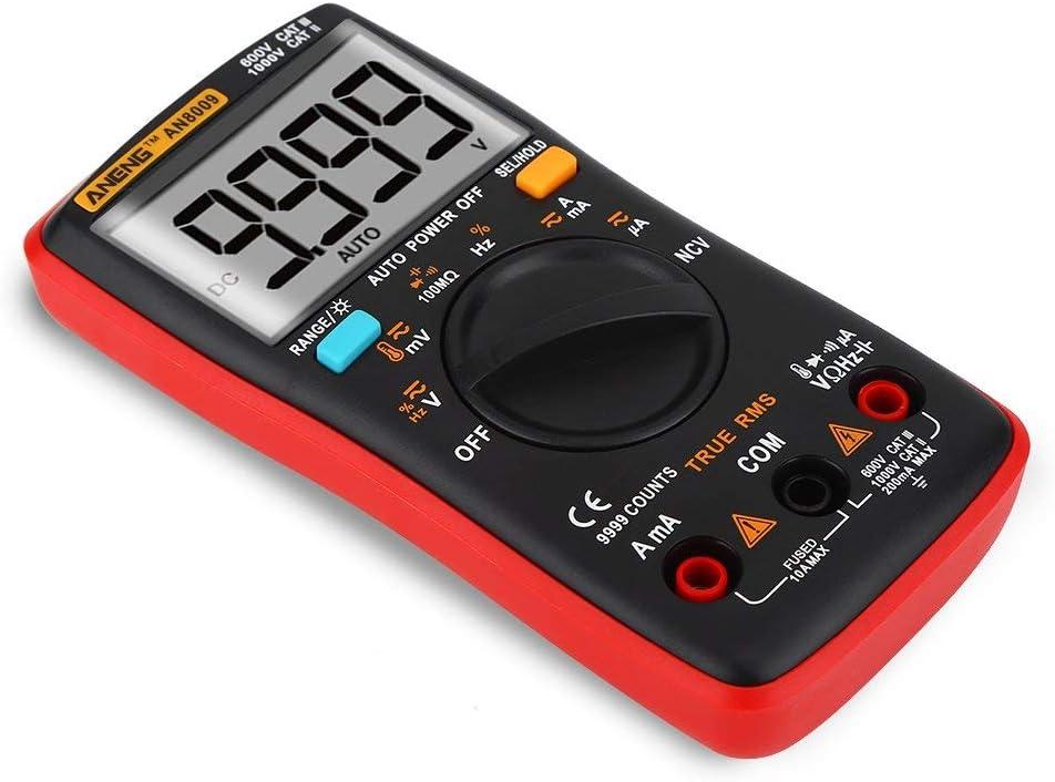 XY-YZGF Multim/ètre num/érique ANENG AN8009 Gamme Auto TRMS AC//DC testeur de Tension Compteur /électronique