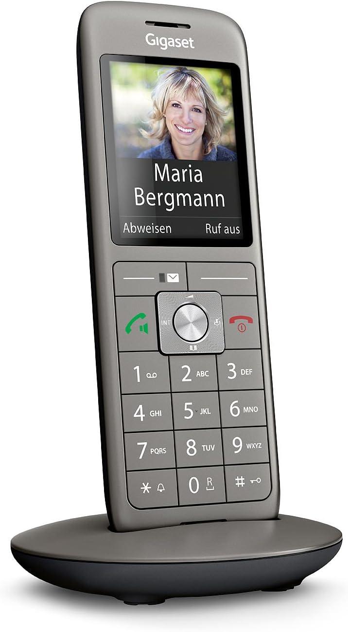 Tel/éfono Gigaset CL 660 Tel/éfono DECT, Terminal inal/ámbrico, Altavoz, 400 entradas, Antracita, Negro