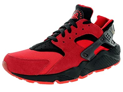 nike huarache red black