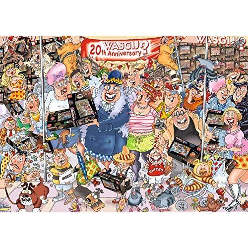 wasgij 27 original the 20th birthday parade 2 x 1000 piece jigsaw puzzles lovely