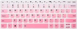 "Keyboard Cover Skins Compatible with Lenovo Yoga C940 C930 920 13.9"" & Lenovo Flex 14 14"" & Yoga 730 720 720S 13.3"" & Yoga 720 12.5"" & 14"" Yoga C740 & Ideapad 720s 13"" 14""(Ombre Pink)"